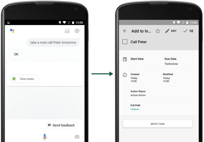 Voice input with Ok Google